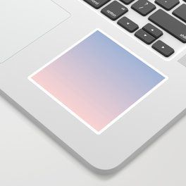 Ombre | Serenity and Rose Quartz | Pantone Colors of the Year 2016 Sticker