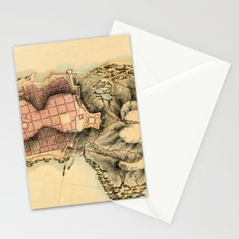 Map Of Montevideo 1808 Stationery Cards