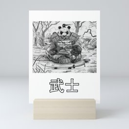 Panda Samurai Warrior Bear Gift design Mini Art Print