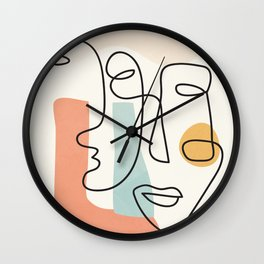 Abstract Faces 31 Wall Clock