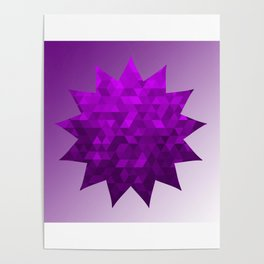 Kwan Yin's Star | Purple Flame | Compassion Poster