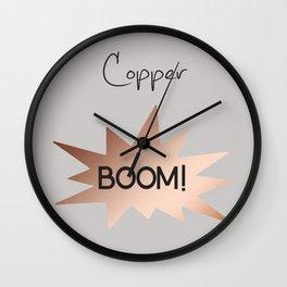 Copper boom! Wall Clock