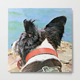 Molly's P.O.V. aka Ears Blowing in the Wind Metal Print