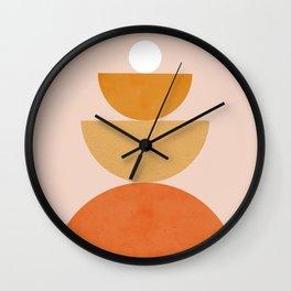Abstraction Circles Balance Modern Minimalism 007 Wall Clock