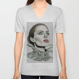 Queen Angie Unisex V-Neck