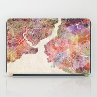 istanbul iPad Cases featuring Istanbul by MapMapMaps.Watercolors