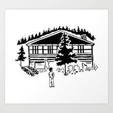 Family Cabin Art Print