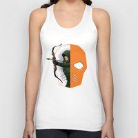 superheros Tank Tops featuring Masked by Dooomcat
