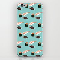 sushi iPhone & iPod Skins featuring Sushi by Bronte Poynts
