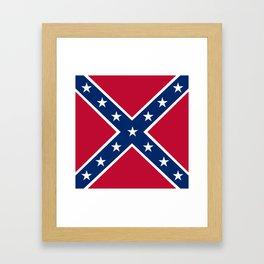 Confederacy Battle Flag Of Virginia Framed Art Print
