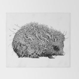 Leaf Hedgehog Throw Blanket