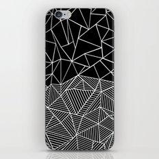 Ab Half and Half Black iPhone & iPod Skin