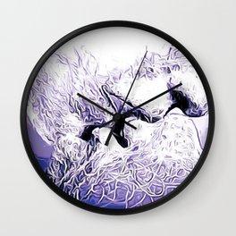 kiss close up Wall Clock