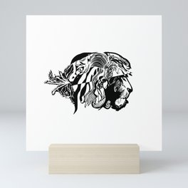 Silent Courage Mini Art Print
