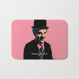 Charlie Chaplin Pop Art Style Picture Bath Mat