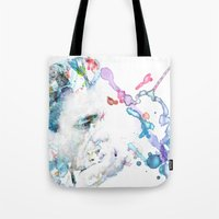 johnny cash Tote Bags featuring Johnny Cash by Kaitlyn Wilcox