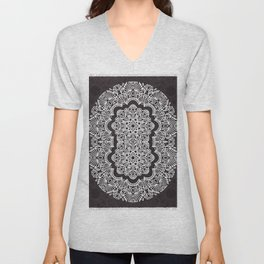 Proceed Mandala || Black and White || Linework Unisex V-Neck