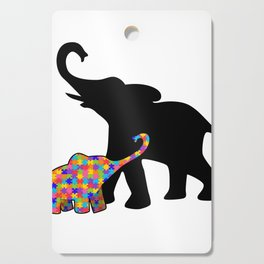 Elephant Autism Awareness Support Cutting Board