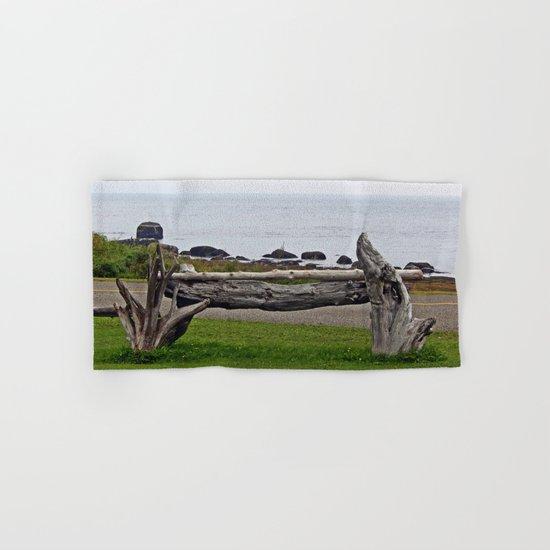 Driftwood Fence and the Sea Hand & Bath Towel