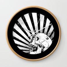 Kamikaze Skull Wall Clock