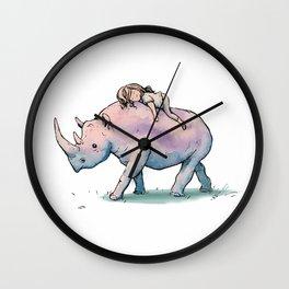 """ Wild Child & Rhino "" Wall Clock"