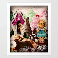 Soft Serve Forest (Candy Christmas Series) Art Print
