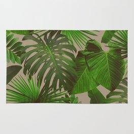 palm leaves Rug