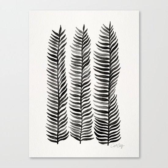 Black Seaweed Canvas Print