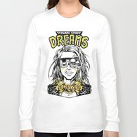 cyberpunk Long Sleeve T-shirts featuring TEENAGE SPACE DREAMS by Lokhaan
