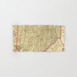 Vintage Map of Georgia (1883) Hand & Bath Towel