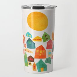 Looking at the same sun Travel Mug
