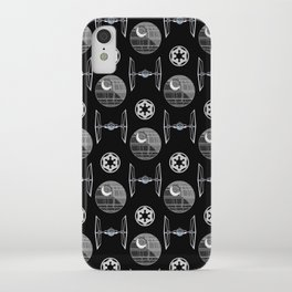 Empire ships pattern, death, star, dark side, movies, 80s iPhone Case