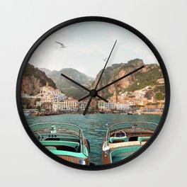 Amalfi Coast Wall Clock
