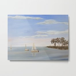 sailboats on Lake Murray Metal Print