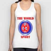 soccer Tank Tops featuring SOCCER  by Robleedesigns