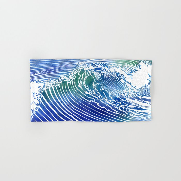 Atlantic Waves Hand & Bath Towel