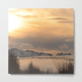 Winter Fog Metal Print
