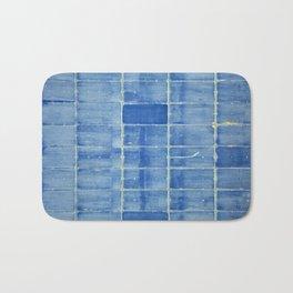 Blue abstract urban wall Bath Mat