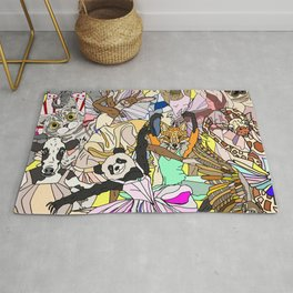 Party Animals Dancing Rug