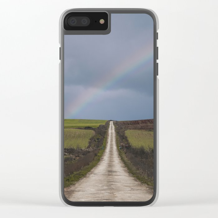 Path under the rainbow Clear iPhone Case