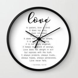 Love Never Fails #minimalism Wall Clock