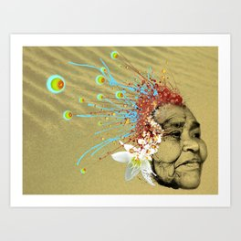 """Gabriela"" of the Kaweskar People - Color Art Print"