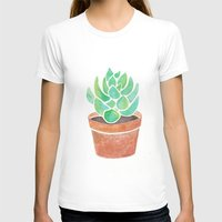 succulent T-shirts featuring The Succulent by Janelle Adamson