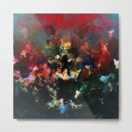 Emotional Abstract Artwork with Dark Colors Metal Print