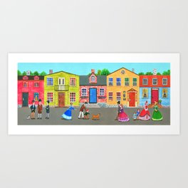New England town Art Print