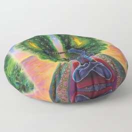 Melek Ta'us (The Peacock Angel) Floor Pillow