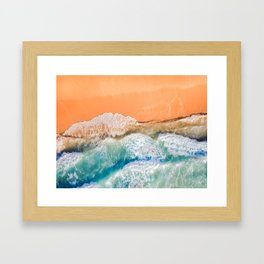 Portsea Beach From Above Framed Art Print