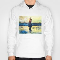 yoga Hoodies featuring yoga by Chantale Roger