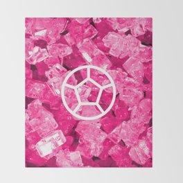 Rose Quartz Candy Gem Throw Blanket