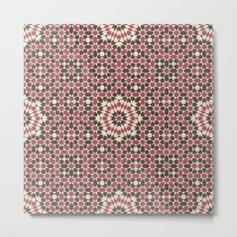 Moorish Dusty Pinks Metal Print